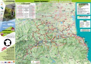 Carte espace Cyclo Sport Pyrénées Méditerranée