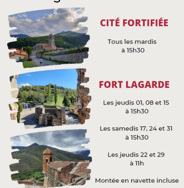 Visites guidées de la cité fortifiée et du fort Lagarde